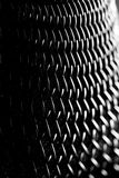 Abstract Background - Microphone. Black And White Photo Of Microphone stock photography