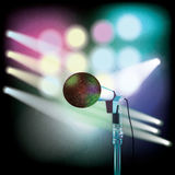 Abstract background with microphone on music stage Royalty Free Stock Image