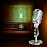 Abstract background with microphone and radio Stock Photos