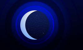 Abstract background is mimicking the telescope staring at the st. Arry sky and the crescent.Vector.Art Royalty Free Stock Photo