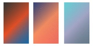 Print. Abstract background. Minimalistic cover design templates. Set of layouts for covers of books, phones,albums, notebooks, reports, magazines. Line halftone royalty free illustration