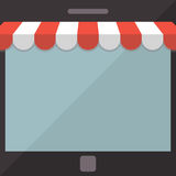 Abstract background. Mobile store concept Royalty Free Stock Images
