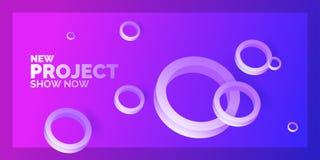 abstract background modern Πρότυπο με τους κύκλους των διαφορετικών μεγεθών Αφίσα με τις τρισδιάστατες γεωμετρικές μορφές διανυσματική απεικόνιση