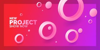 abstract background modern Πρότυπο με τους κύκλους των διαφορετικών μεγεθών Αφίσα με τις τρισδιάστατες γεωμετρικές μορφές ελεύθερη απεικόνιση δικαιώματος