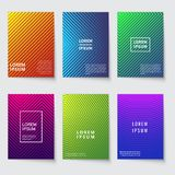 Abstract background. Modern covers with geometric line pattern. Minimal colorful halftone gradients vector design. Poster minimalist geometry, colorful Royalty Free Stock Images