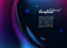 Abstract background with modern glowing lines Stock Photo