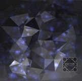 Abstract background. Abstract modern background with polygons Royalty Free Stock Images