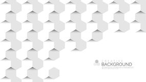 Abstract background in modern style. Hexagons concept. Vector. Abstract background in modern style. Hexagons concept. White. Vector illustration royalty free illustration