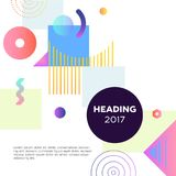 Abstract Background - modern vector template illustration. On white background with place for your text, date, heading formed in a dark round frame. Stylish stock illustration