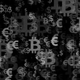 Abstract background with money. Euro stock illustration