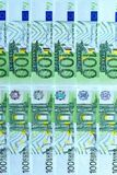 Abstract background of money from banknotes of 100 euros Stock Image