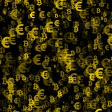 Abstract background with money. Euro vector illustration
