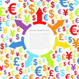 Abstract background with money Stock Images