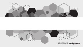 Abstract background  monochrome black and white background .. Abstract background , monochrome black and white background . Hexagons. Vector Stock Photos