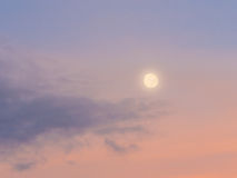 Abstract background : Moon sunlight cloud and sky in evening. Abstract background : Moon sunlight cloud and sky royalty free stock images