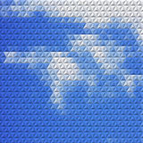 Abstract background with mosaic clouds Royalty Free Stock Image
