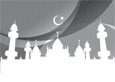 Abstract Background mosque and crescent Royalty Free Stock Photo