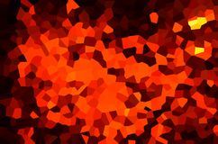 Abstract background of mostly orange shapes. Abstract background of shapes of warm colors stock illustration