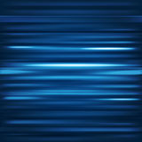 Abstract background. Motion blue horizontal lines. Vector techno Stock Images