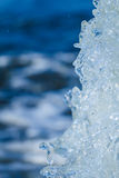 Abstract background motion blur of the water. Stock Photo