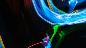 Abstract Background. Motion blurred lights at night royalty free stock image