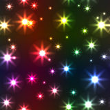 Abstract background with motley stars Stock Photo