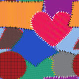 Abstract background with motley textile patches Stock Image