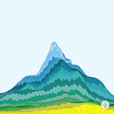 Abstract background with mountain. Mosaic Stock Photography