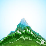 Abstract background with mountain. Mosaic. 3d Stock Photos