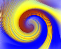 Abstract background in movement. Circular movement in movement in yellow, orange and blue hues. Abstract texture and design Stock Images