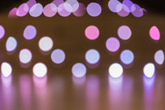 Abstract background of  multi-color lights with bokeh effect Royalty Free Stock Photo