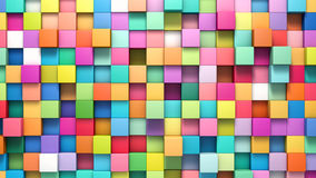 Abstract background of multi-colored cubes Royalty Free Stock Images