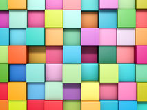 Abstract background of multi-colored cubes Stock Photography