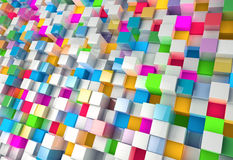 Abstract background of multi-colored cubes.  Stock Photo