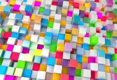 Abstract background of multi-colored cubes Royalty Free Stock Photography