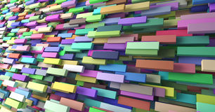 Abstract background of multi-colored cubes.  Royalty Free Stock Image
