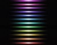 Abstract background. With multi-colored horizontal lines Stock Images
