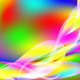 Abstract background from multi-colored molecules Stock Photography