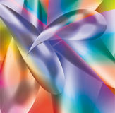Abstract background from multi-colored molecules Stock Image
