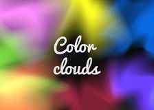 Abstract background of multi-colored transparent smoke on a black background. Holographic textures for cover, brochure, flyer, poster, invitation, stylish Stock Image