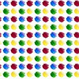 Abstract background is a multi-colored watercolor drops splashes. Spots lie exactly in a row and columns. Yellow green blue and vector illustration