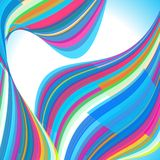 Abstract background. Multi-colored waves Royalty Free Stock Image