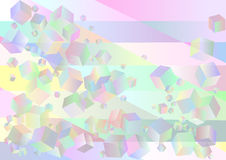 Abstract background with multicolor cubes Royalty Free Stock Photo