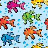 Abstract background of multicolor fishs. Royalty Free Stock Photos