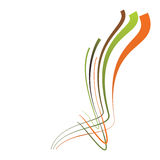 Abstract background with multicolored bent lines. Vector illustr Royalty Free Stock Photography