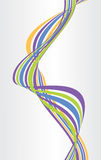 Abstract background with multicolored bent lines. Vector. Illustration Royalty Free Stock Photo
