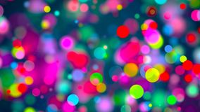 Abstract background with multicolored bokeh. 3d rendering royalty free illustration