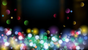 Abstract background with multicolored bokeh effect. Abstract background with bokeh effect. Blurred defocused multicolored lights. Colored bokeh lights on black Vector Illustration
