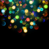 Abstract background with multicolored bokeh effect. Abstract background with bokeh effect. Blurred defocused multicolored lights. Colored bokeh lights on black Royalty Free Illustration