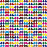 Abstract background of multicolored cartoon eyes. Design element. Vector Royalty Free Stock Image